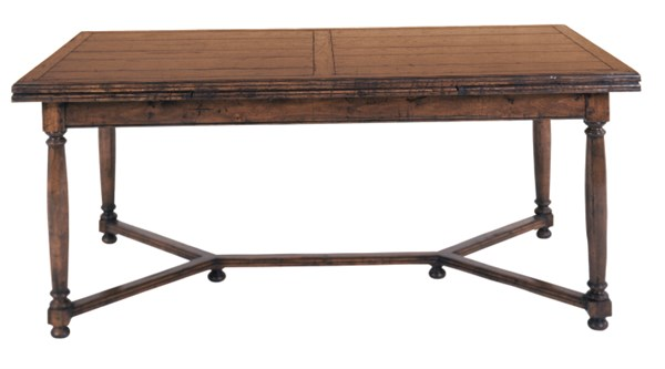 Attirant Country English Refectory Table (72x40x31); As Shown   Top   Inlaid Plank  With One Crossbands; Edge   English; Leg   Jacobean; Stretcher   Y