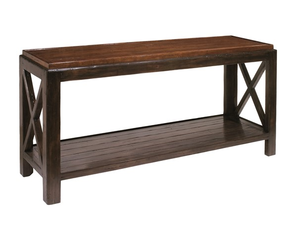 Carmel Console Table; As Shown   Top   Plank With Chamfer And Rim