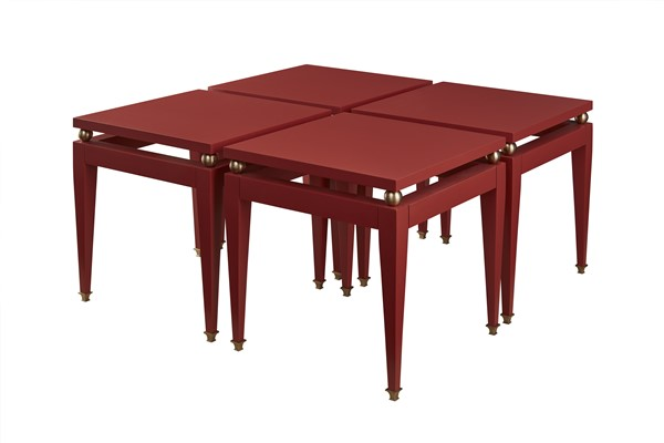 Shown In 6020 Spanish Red Paint Finish With Antique Brass Hardware.