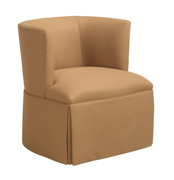 Petite Barrel Back Swivel Chair